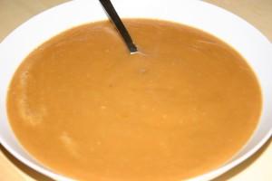 soupe à la courge et au marron