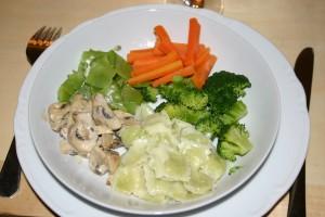 Ravioles aux petits légumes