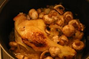 Cuisses de canard aux champignons