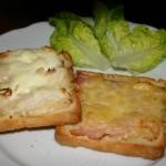 Croques jambon et poulet