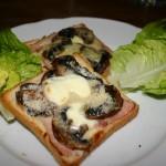 croque champignon parmesan