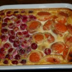 Clafoutis griottes abricots