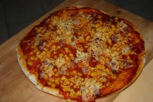Pizza aux lardons